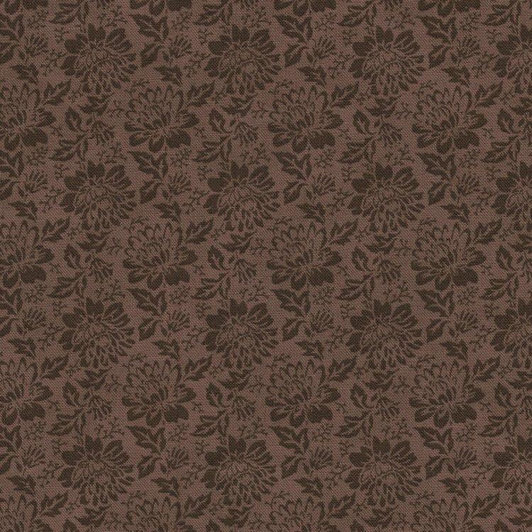 Stof a/s colorflow bruin bloem