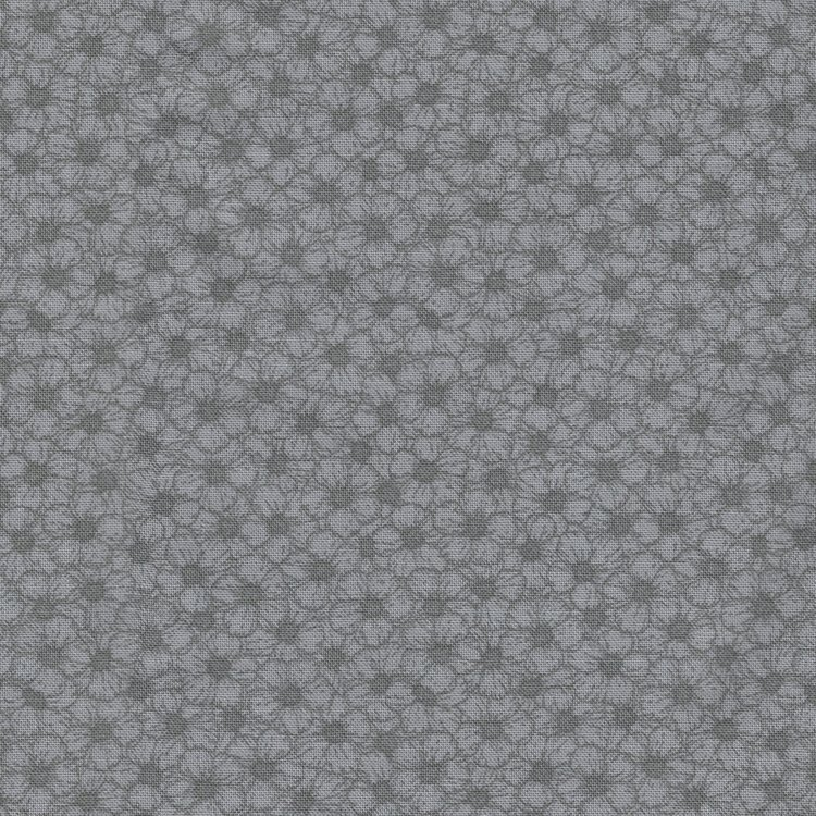 Stof a/s colorflow grijs bloem