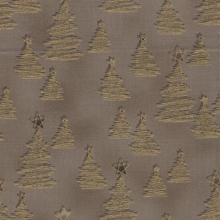 Stof a/s Christmas Wonders taupe kerstboompjes