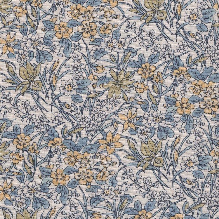 Liberty London English Garden Ricardo ecru geel