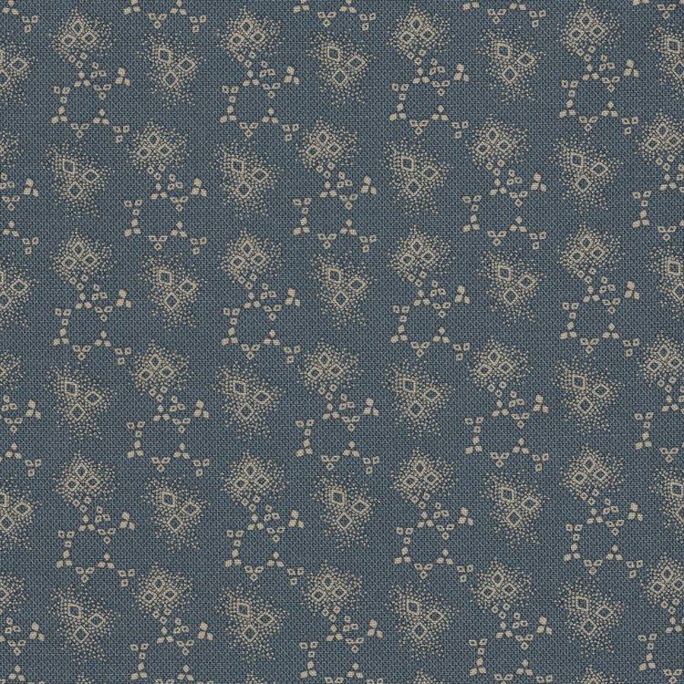 Marcus Fabrics Chatham Row blauw werkje