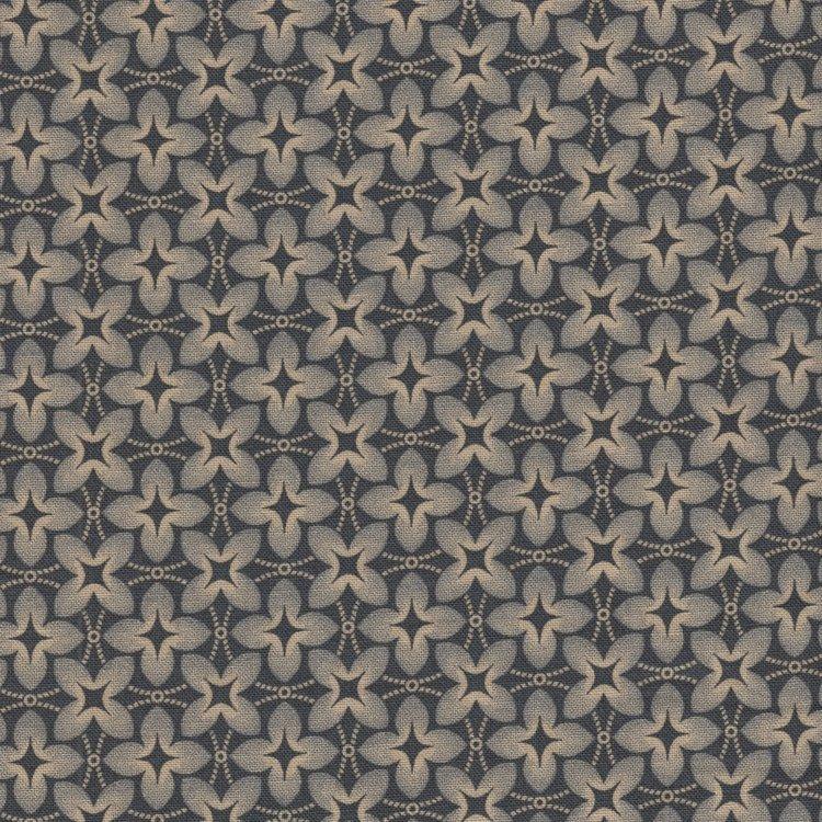 Marcus Fabrics Chatham Row blauw stervorm