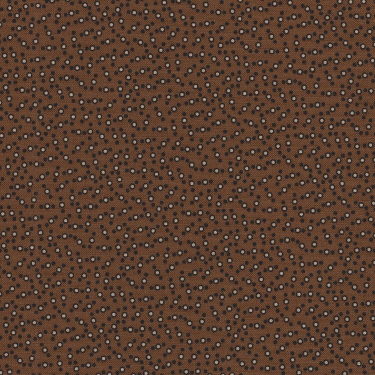 Marcus Fabrics Chatham Row bruin stipje