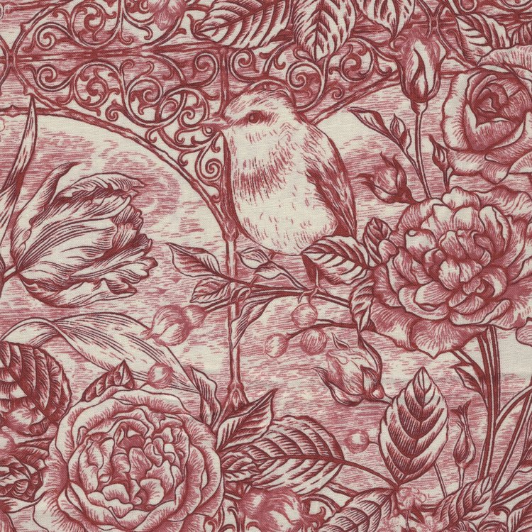 In The Beginning Romance toile rood