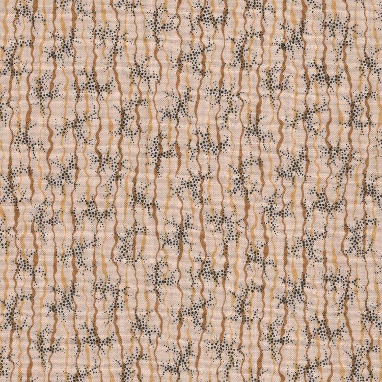 Andover Chesapeake ecru tan ribbon and dots
