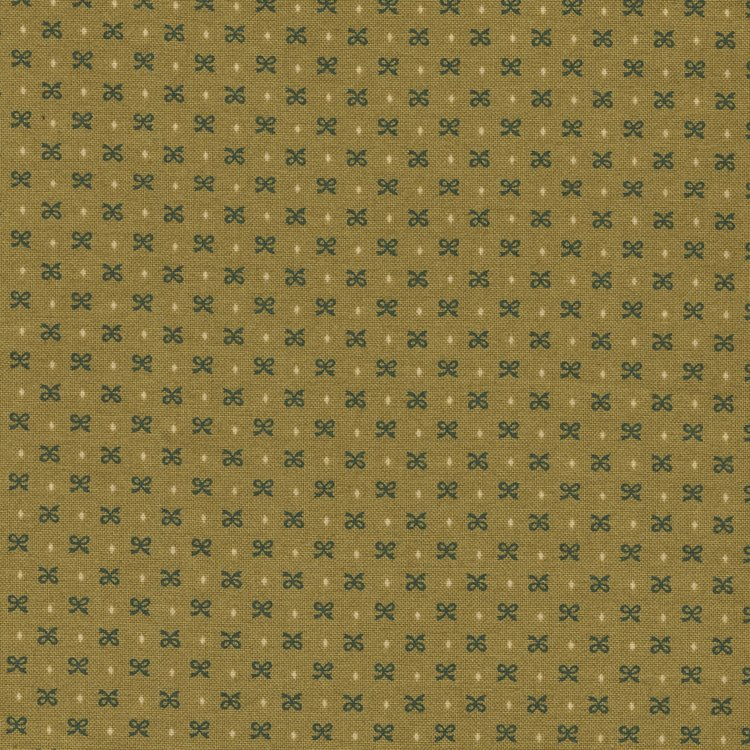 Henri Glass Esther's Heirloom Shirtings groen mini strikje