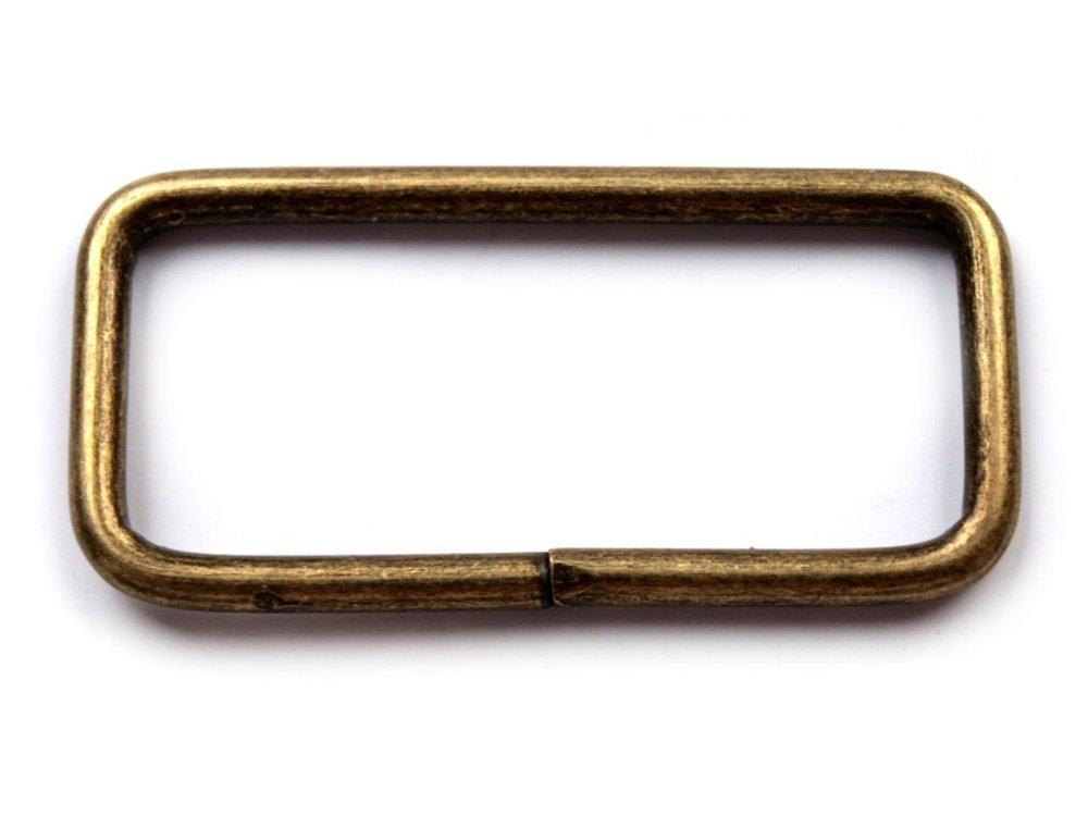 Vierkante ring 38 mm brons