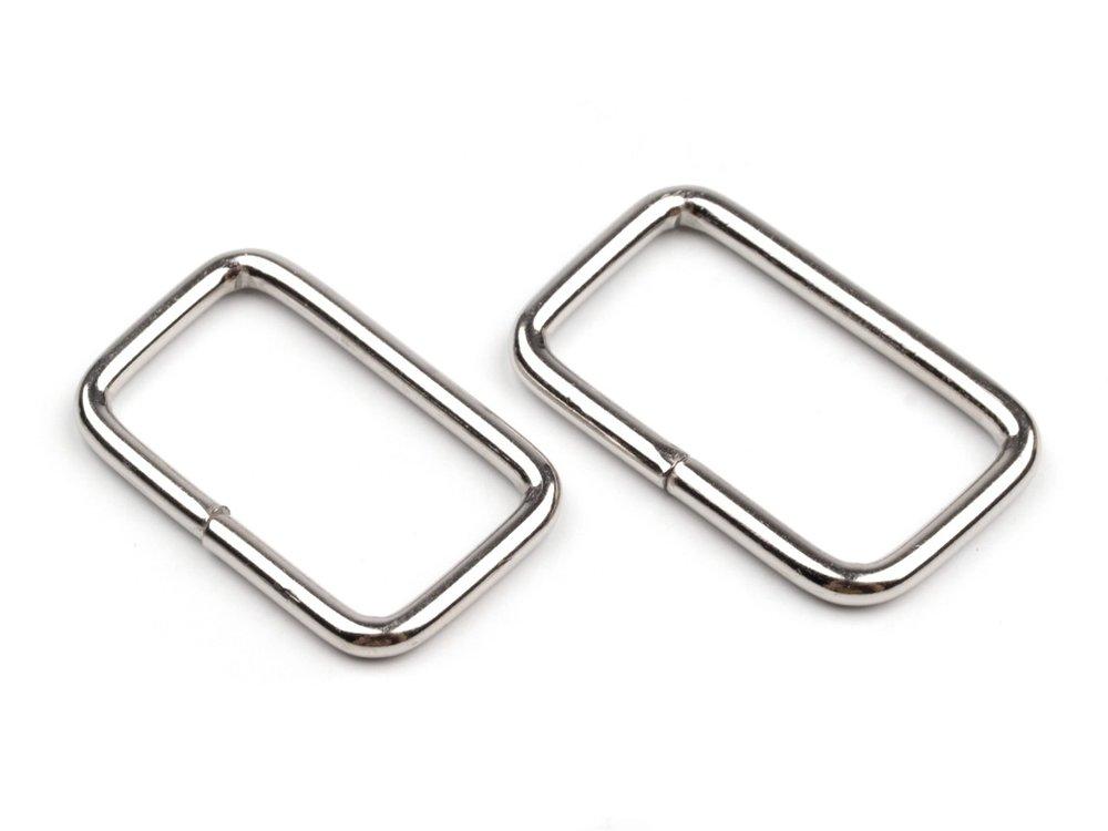 Vierkante ring 25 mm nikkel