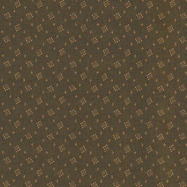 Windham Fabrics Kindred Spirits groen met ecru werkje