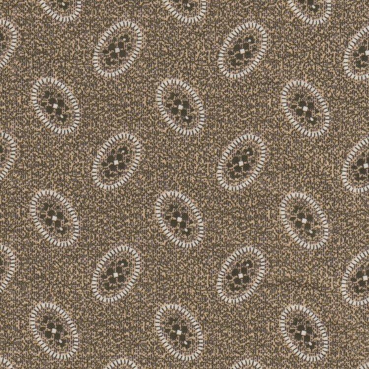 Windham Fabrics Kindred Spirits groen met ecru ovaal werkje