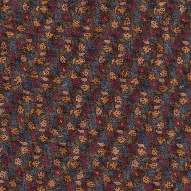 Windham Fabrics Kindred Spirits bruin met blaadje