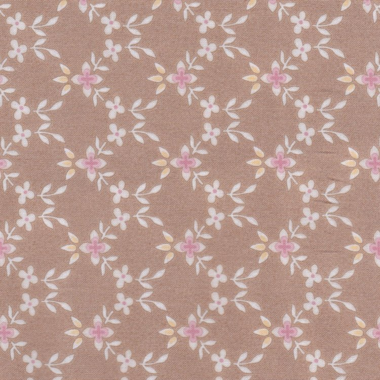 Maywood Graceful Moments taupe met ecru bloemetje