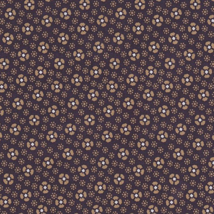 Marcus Fabrics Davenport Gardens paars oker bloemetje