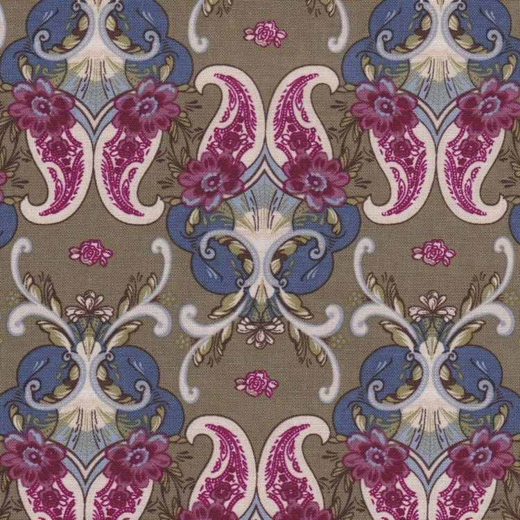 Penny Rose Fabrics The Era Of Jane Figuur groen