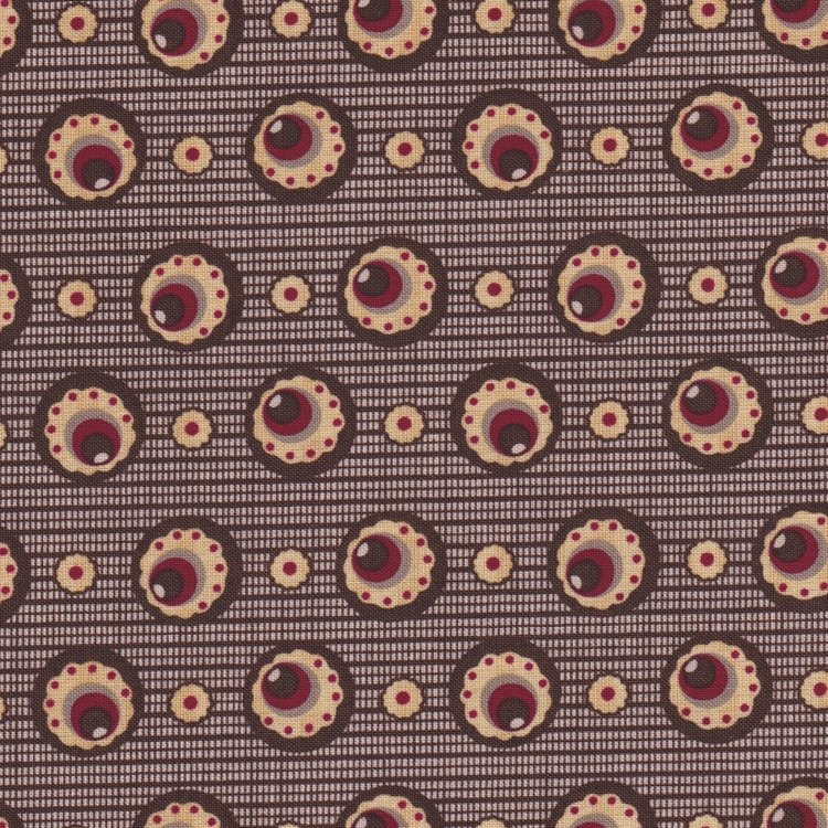 Penny Rose Fabrics The Era Of Jane bruin cirkel