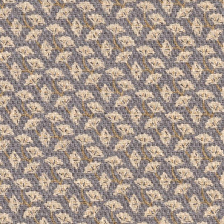 Penny Rose Fabrics Harrington grijsblauw met ecru blad