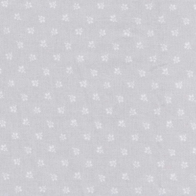 Windham Fabrics A Touch Of Grey grijs met bloemetje.