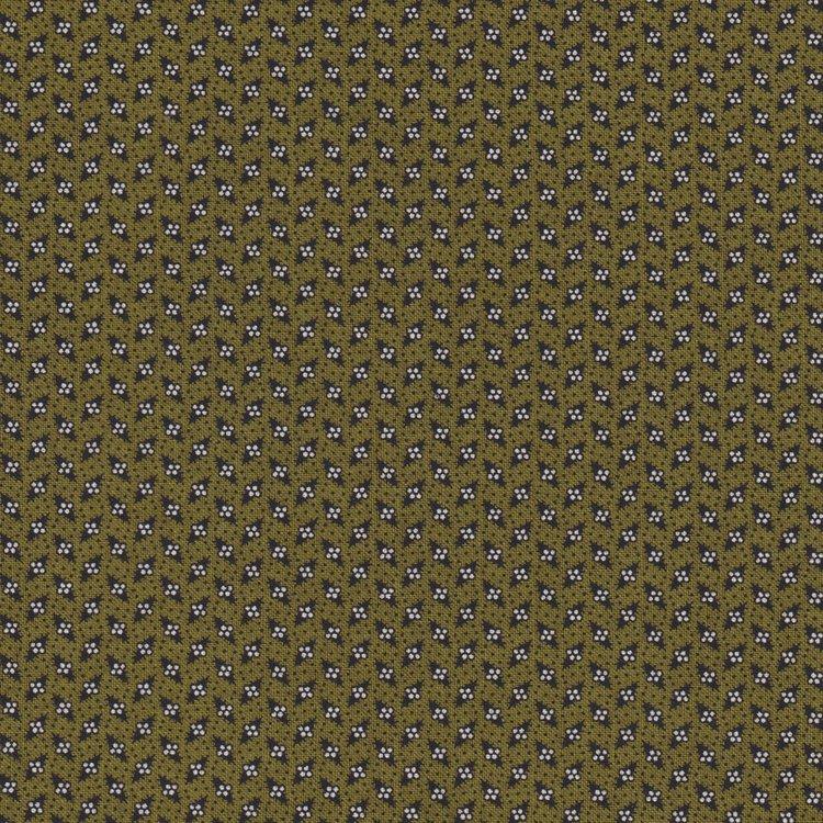 Windham Fabrics Sampler groen met ecru/zwart werkje