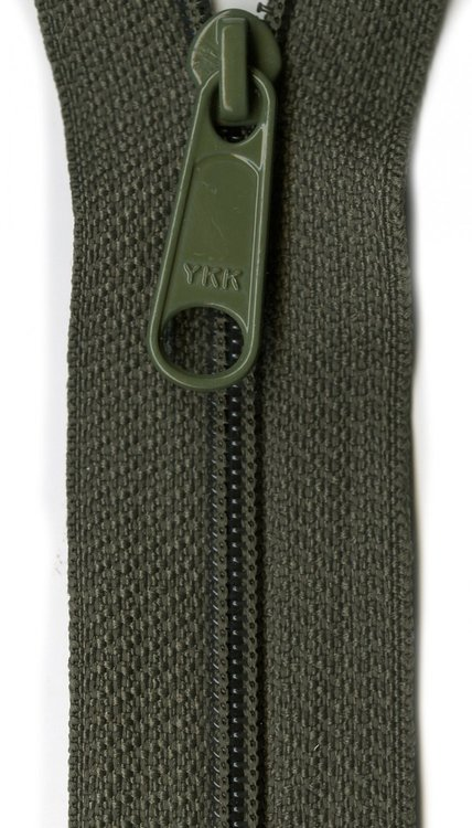 YKK rits 22 inch (55cm) olive