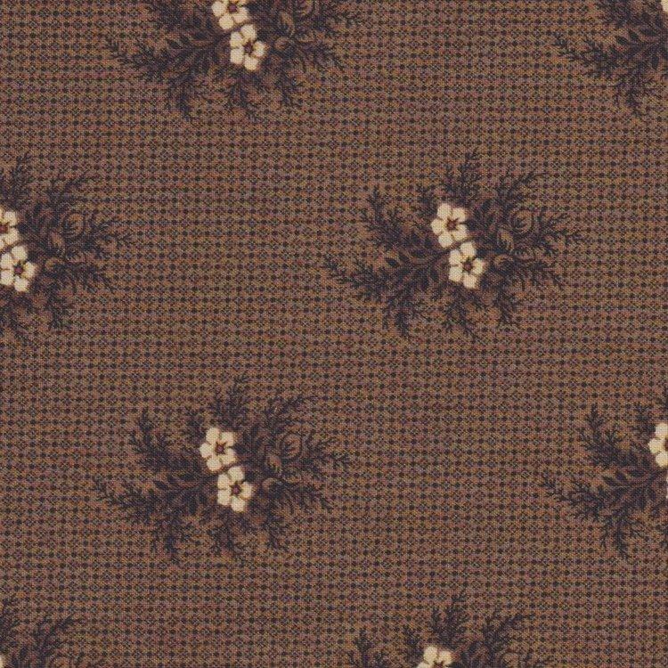 Andover Giggleswick Mill bruin ecru bloem