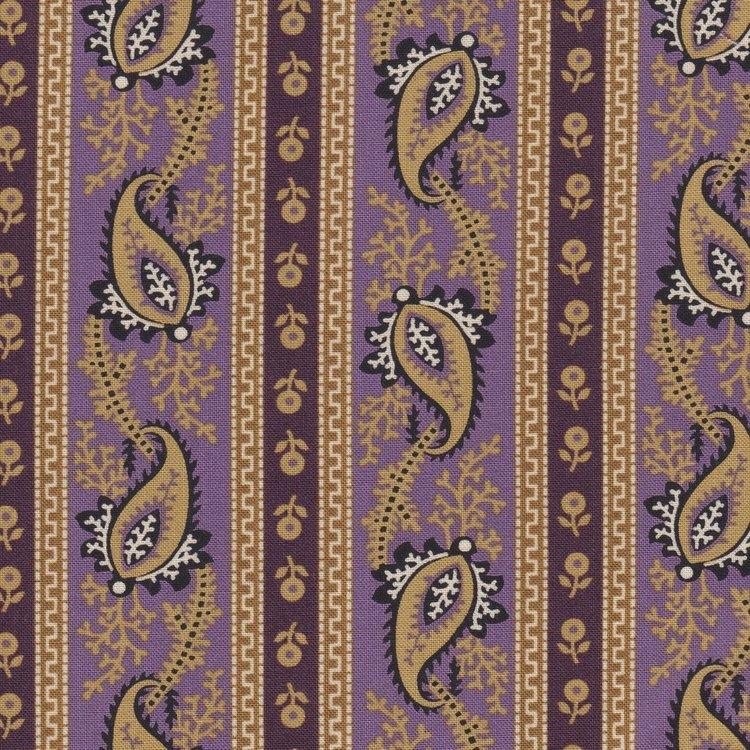 Marcus Fabrics Border Companions paars rand