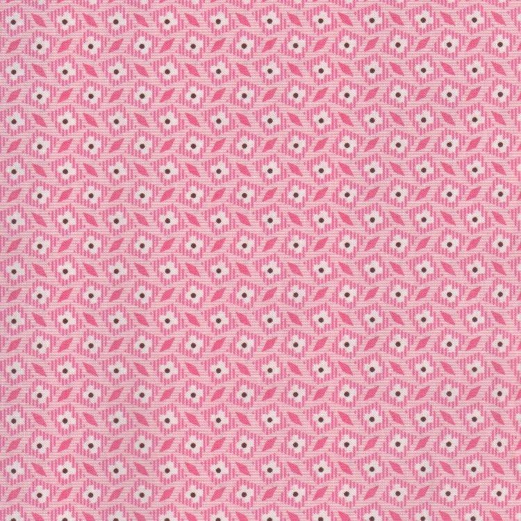 Marcus Fabrics Aunt Grace roze ruitje