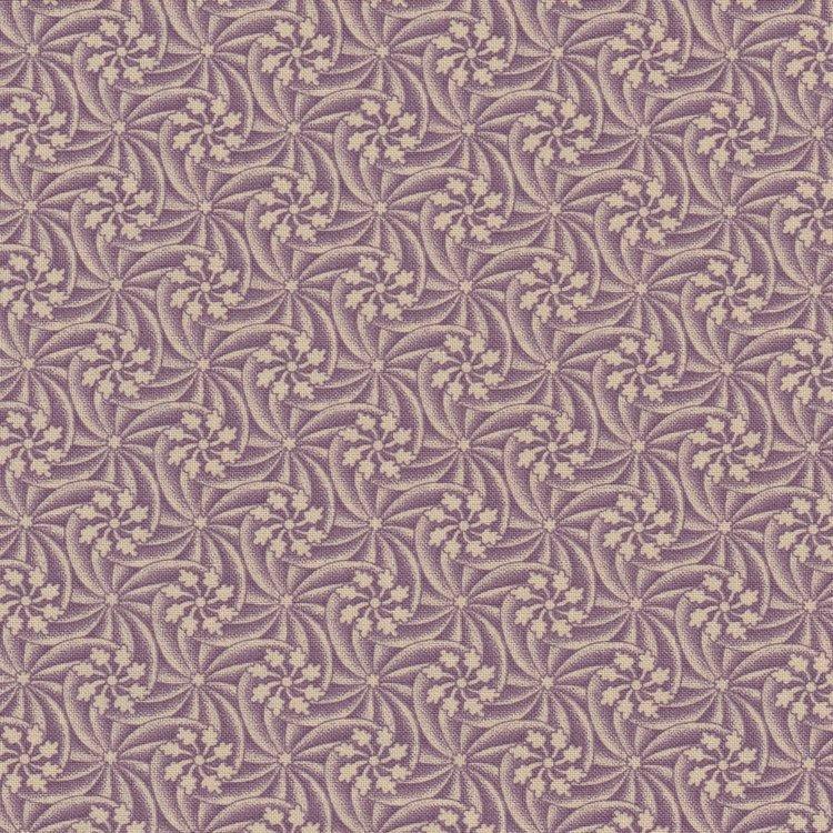 Marcus Fabrics Old Sturbridge Village Anniversary Collection paars ecru ster