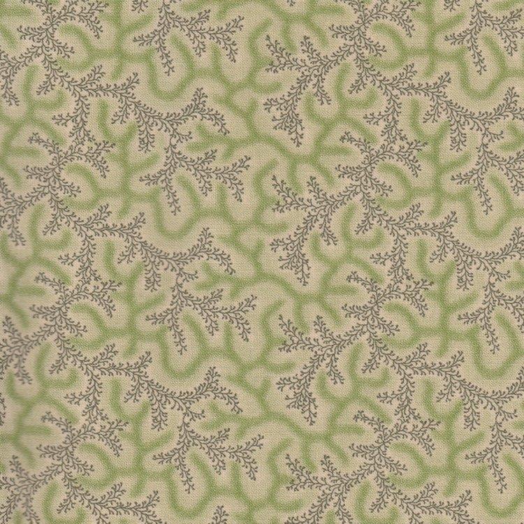 Marcus Fabrics Old Sturbridge Village Anniversary Collection groene tak