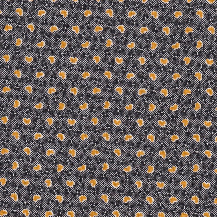 Windham Fabrics Sampler zwart met oker werkje