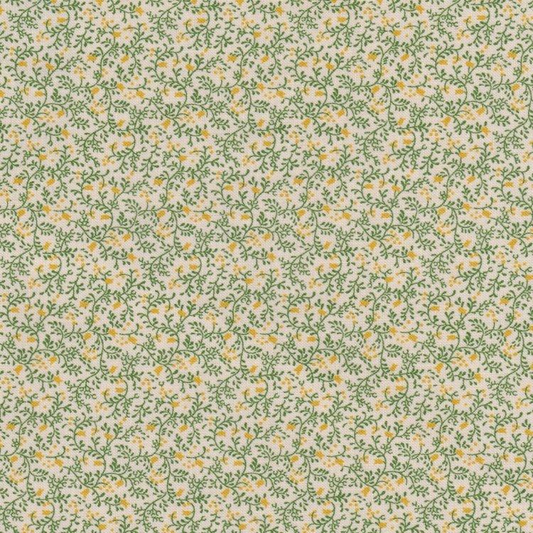Windham Fabrics Postage Stamp ecru groen takje