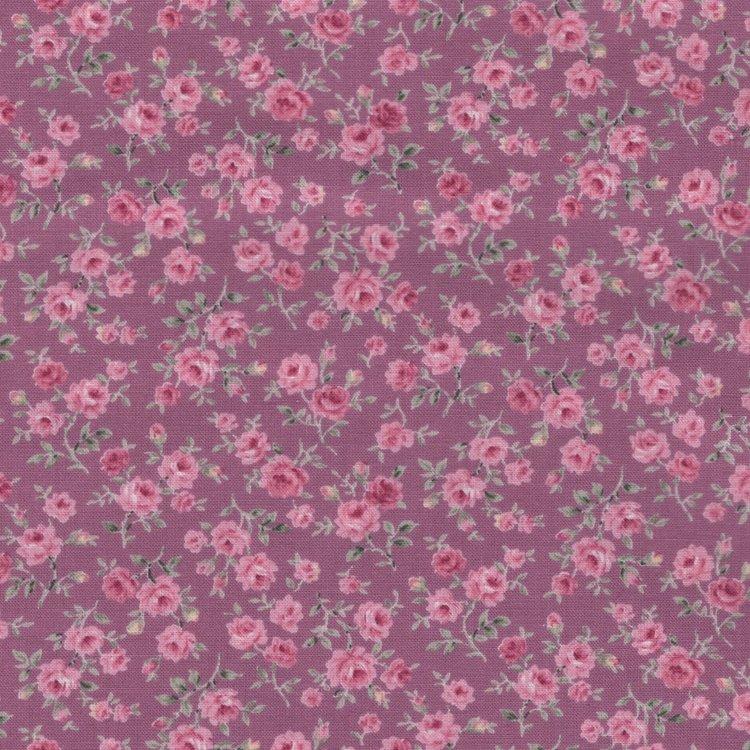 Quilt Gate RURU Bouquet paars klein roze roosje