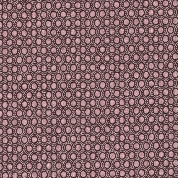 Windham Fabrics Rosewater bruin roze stip