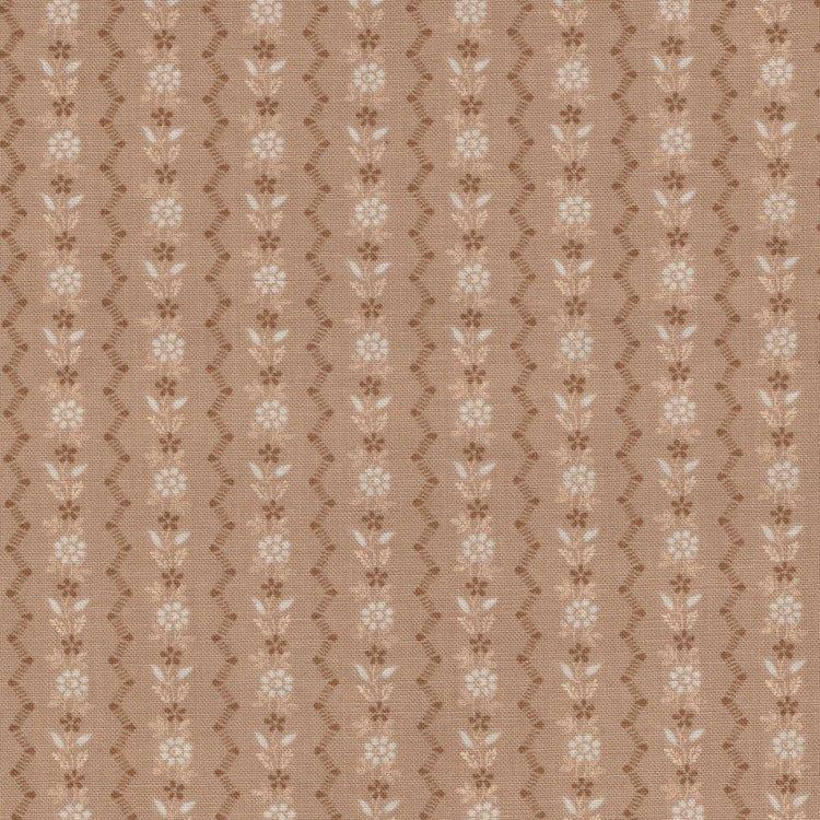 Penny Rose Fabrics Garnet streep tan