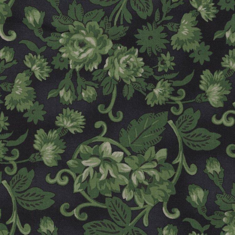 Washington Street Studio Christmas Remembered zwart groene roos