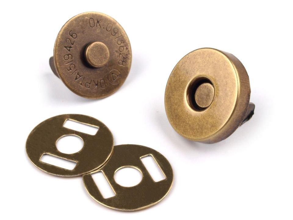 Magneetsluiting 14mm antiek brons