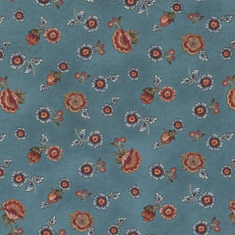 Benartex Torrington blauw klein bloemetje