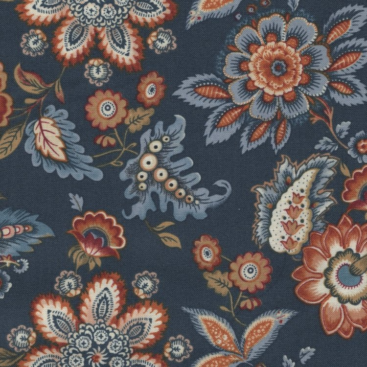 Benartex Torrington blauw grote bloem