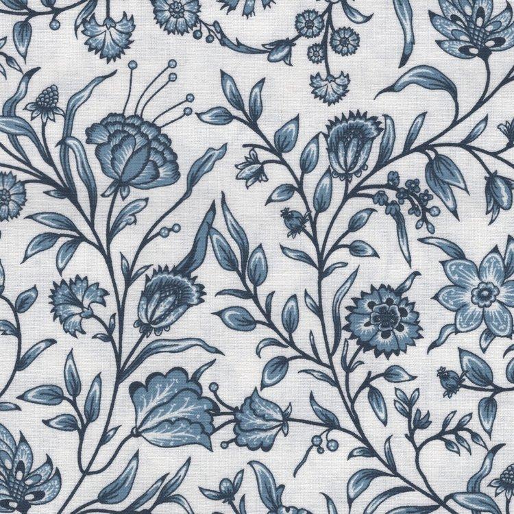 Eyelike Fabrics Hindelopia wit met blauwe tak