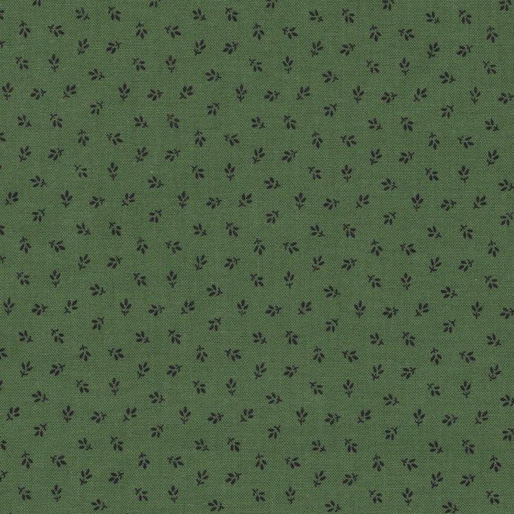 Windham Fabrics Jamestown groen zwart werkje