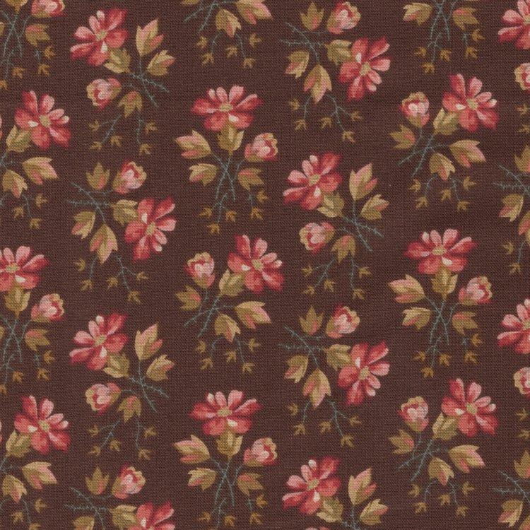 Andover Crystal Farm bruin bloemetje