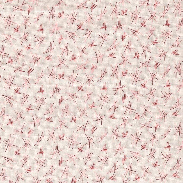 Andover Tuxedo Prints ecru rood werkje