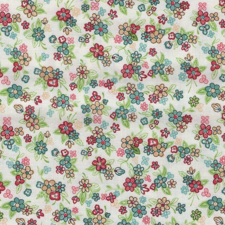 Andover Katie Jane wit met kleine bloemetjes