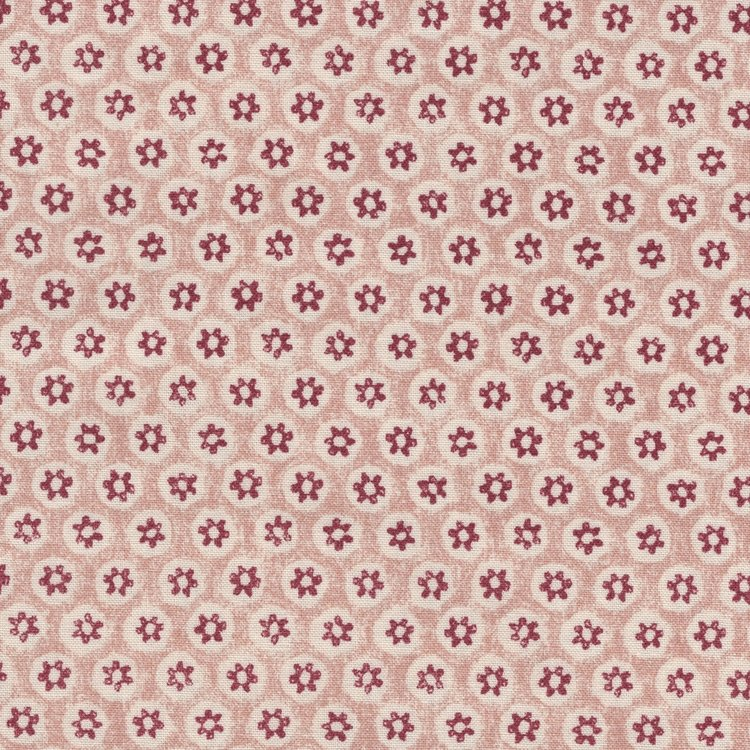 Free Spirit / Morris & co. Kelmscott ecru rood bloemetje