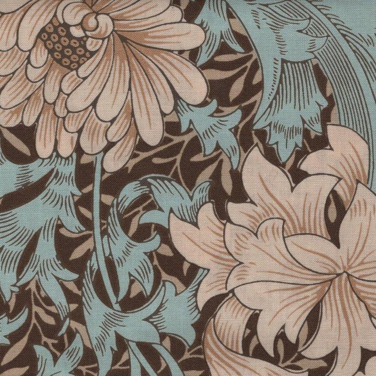Free Spirit / Morris & co. Merton bruin grote bloem