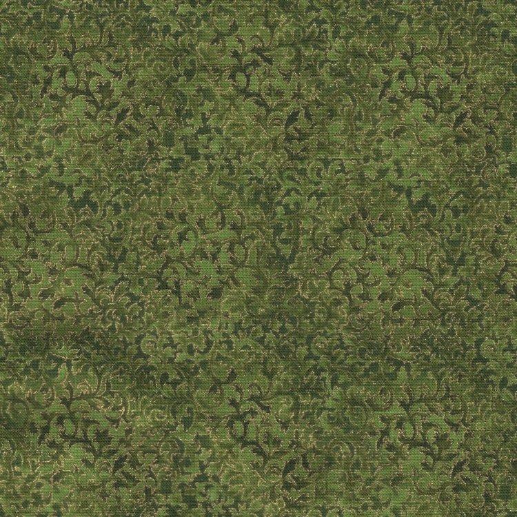 Robert Kaufman Fusions Metallic groen