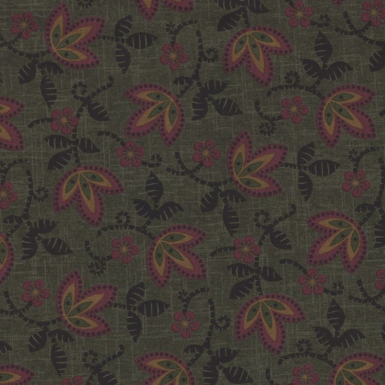 Marcus Fabrics Pieceful Pines groen blaadje