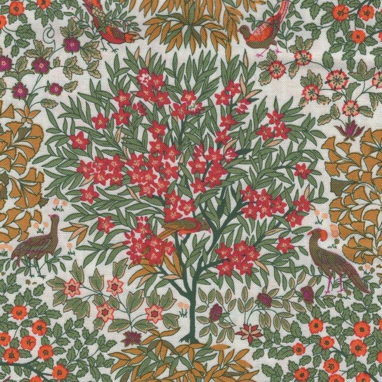 Liberty London The Orchard Garden ecru oranje appelboom