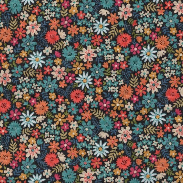 Andover/Makeower Bloom blauw oranje bloemetje