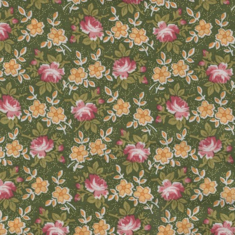 Henry Glass Windsor Park groen roze bloemetje