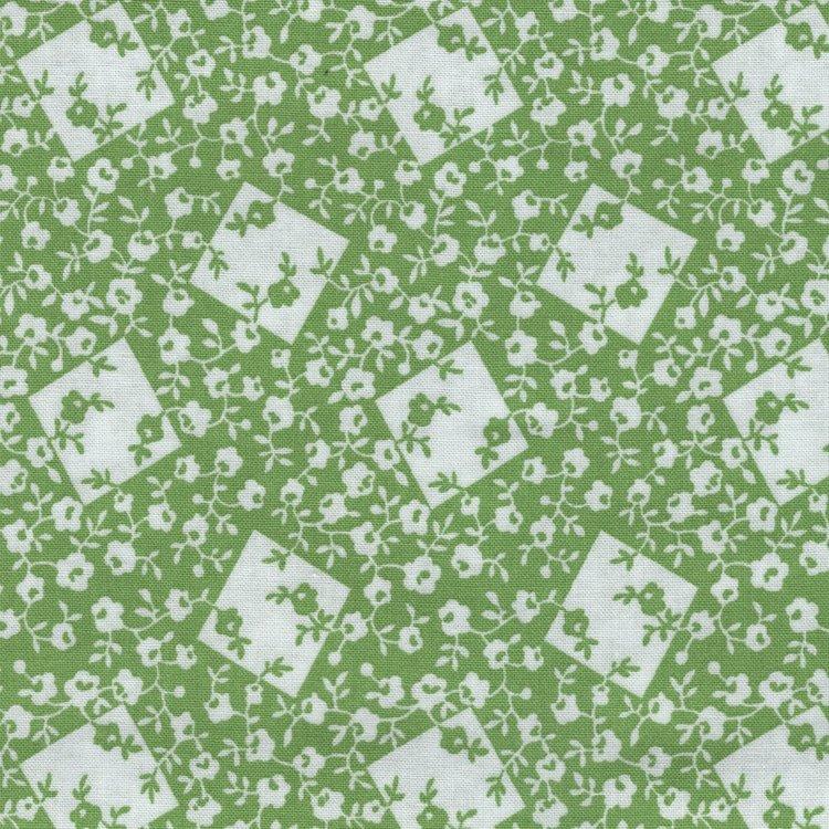 Windham Fabrics Storybook Ranch groen wit bloemetje